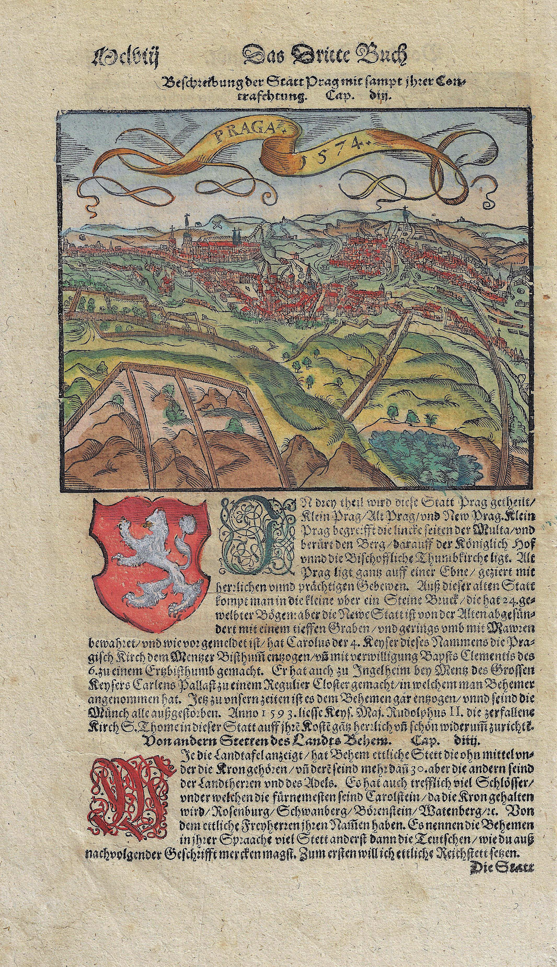 Münster  Beschreibung der Statt Prag mit sampt ihrer Contrafehtung.