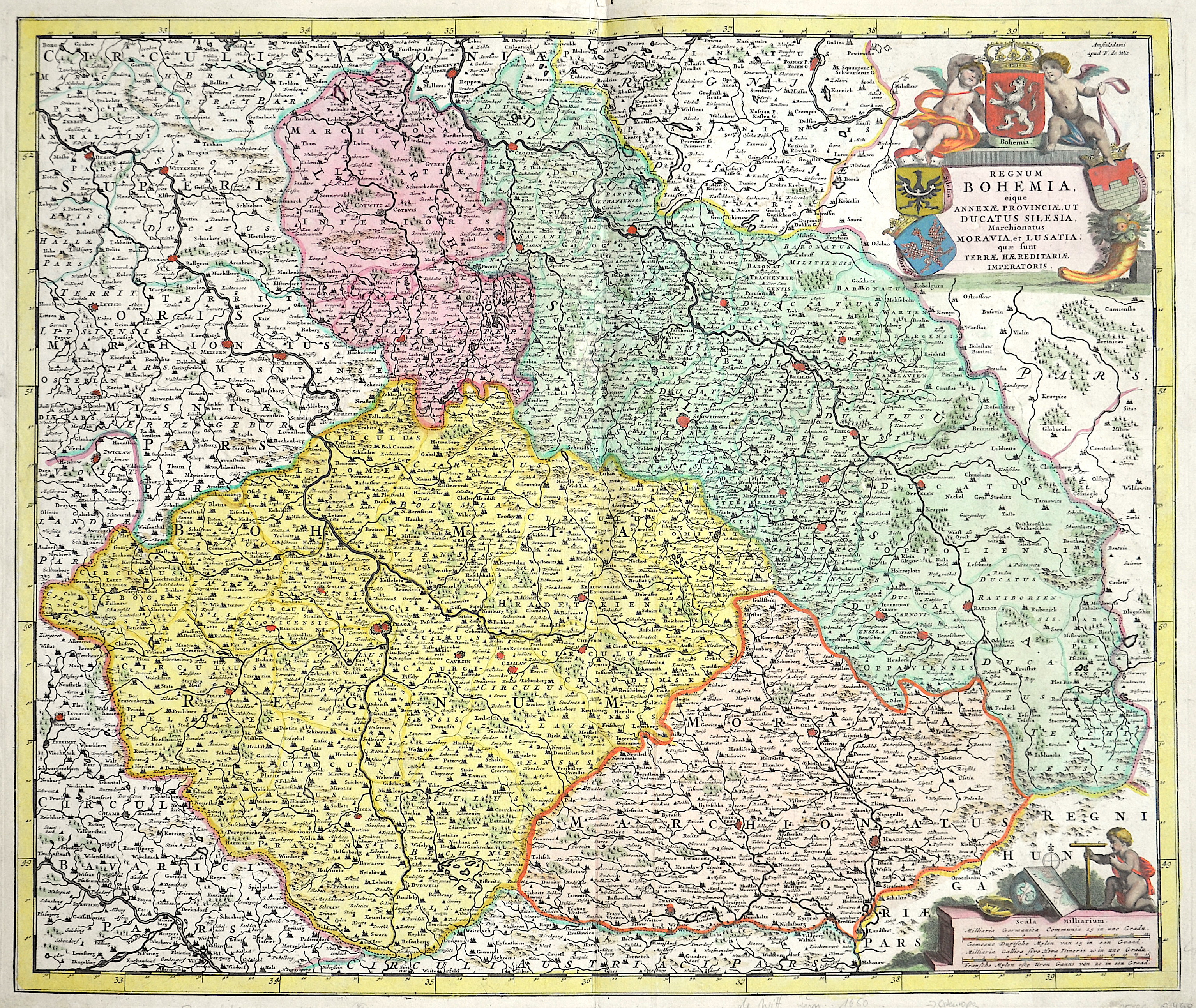 Wit, de  Regnum Bohemia, Annexae Provinciae, ut Ducatus Silesia, Marchionatus Moravia, et Lusatia..