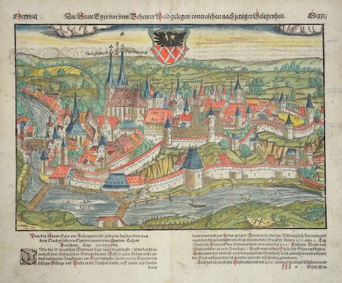 Münster  Die Stadt Eger vor dem Behemer Wald gelegen/trontrasehter nach jetztiger Gelegenheit