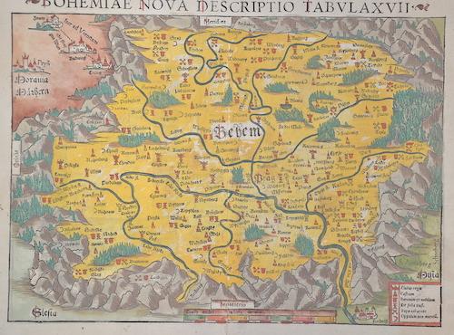 Ptolemy/Münster Sebastian  Bohemiae nova descriptio tabula