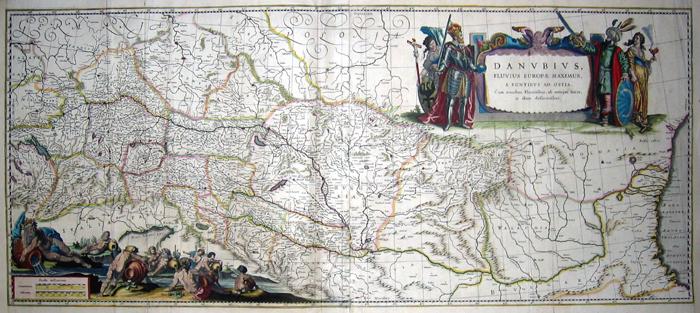 Blaeu Willem Janszoon Danubius, Fluvius Europae maximus, a fontibus ad Ostia….