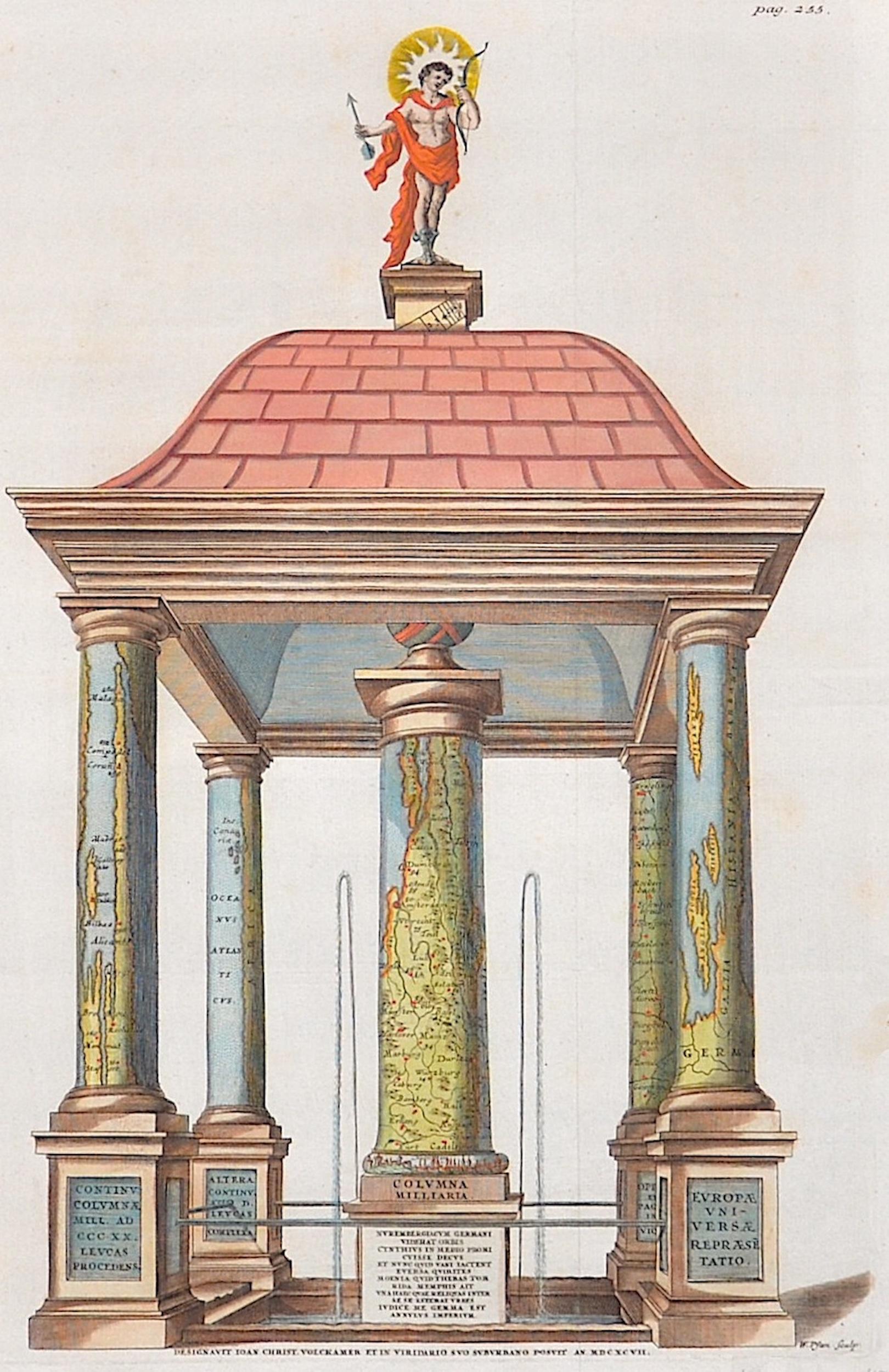 Pfan  Designavit Joan Christ Volkammer et in viridario suo suborbano posvif an.MDCXCVII