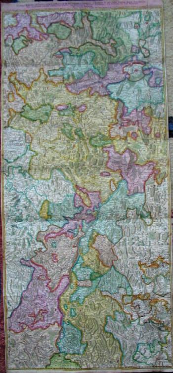 Homann Erben  Cursus Rheni à Basilia usque ad Bonnam, III sectionibus exhibitus à domino g. de l´ile geogr. regio par. editos…