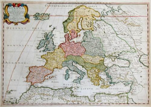 Rossi Giacomo Giovanni Europa Vetus Ex Conatib Geographicis N.Sanson…….