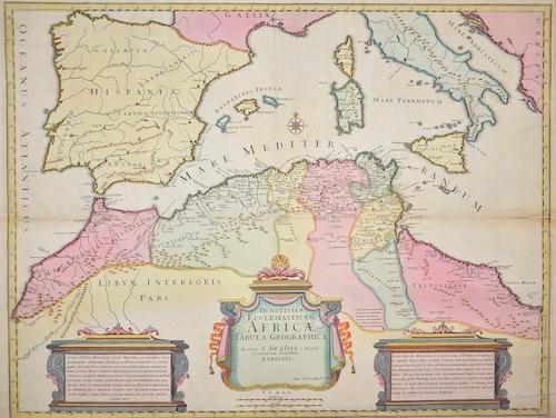 Senex  In Notitiam Ecclesiasticam Africae Tabula geographica……