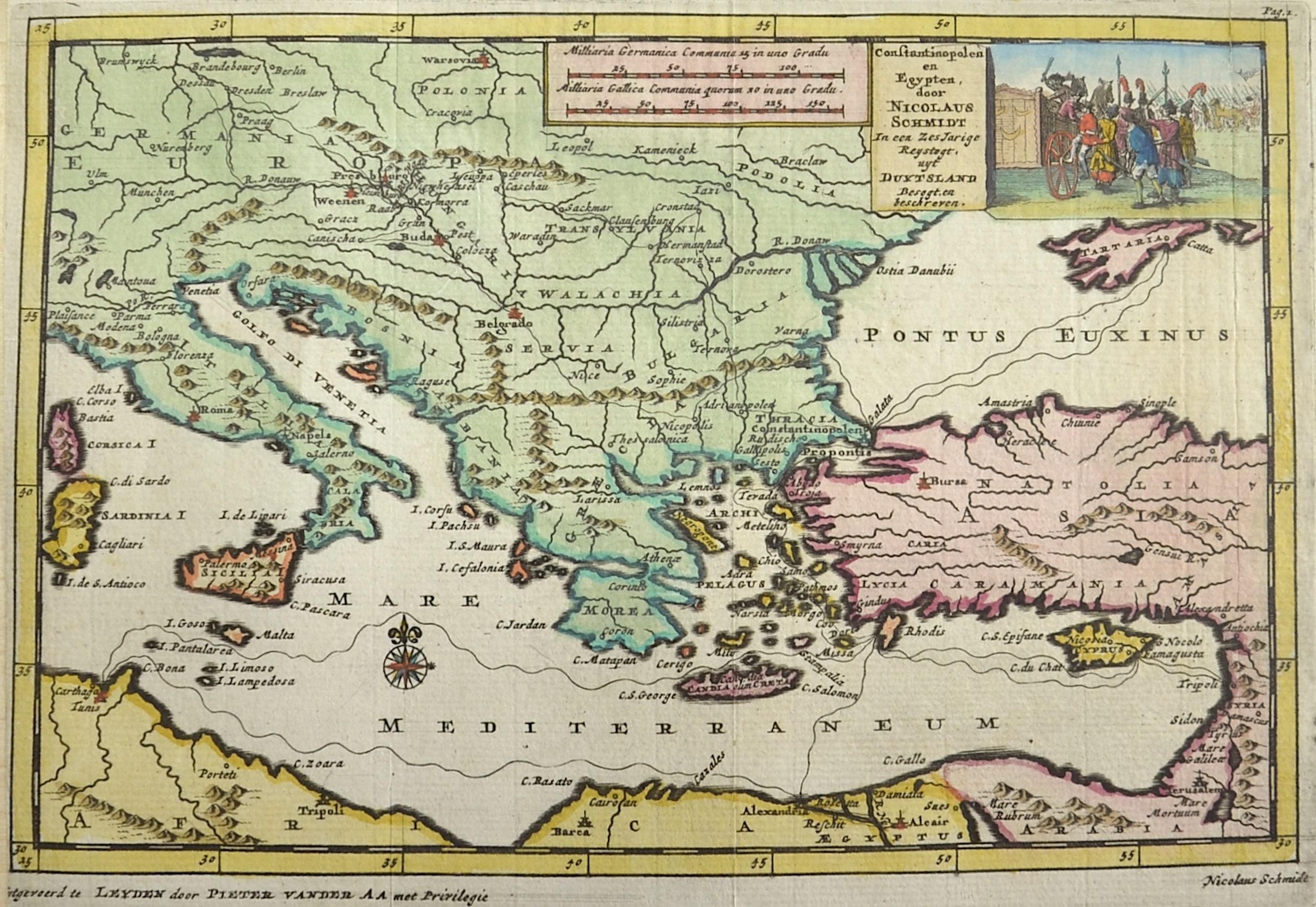 Aa, van der  Constantinopolen en Egypten, door Nicolaus Schmidt in een Zes Jarige Reystogt uyt Duytsland besegt. en beschreven