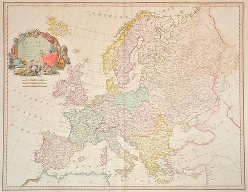 Faden William Europe, Exhibiting its principal states.