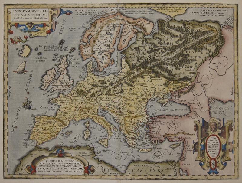 Ortelius Abraham Europam, sive celticam veterem sic describere conabar Abrah. Ortelius