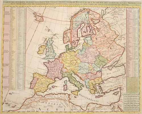Chatelain Henri Abraham Carte de l'Europe…