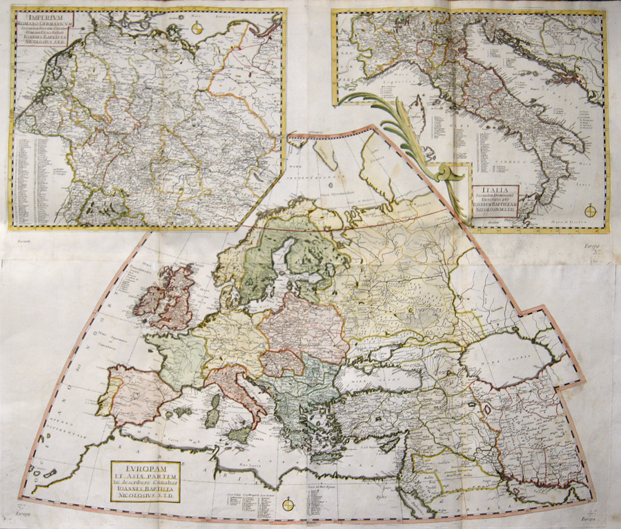Nicolosi Giovanni Battista Europam et Asiae Partem / Imperium Romano-Germanicum / Italia Secundum Dominatus..