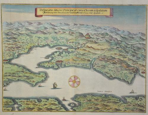 Merian Matthäus Delineation situsve Provinciae circa Clissam & Spalatum , Abbildung oder Situation der Landschafft umb Clissa und Spalato