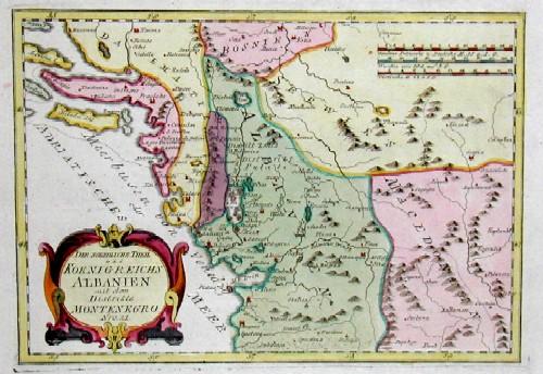 Reilly Franz Johann Joseph Der nördliche Theil des Königreichs Albanien mit dem Districte Montenegro