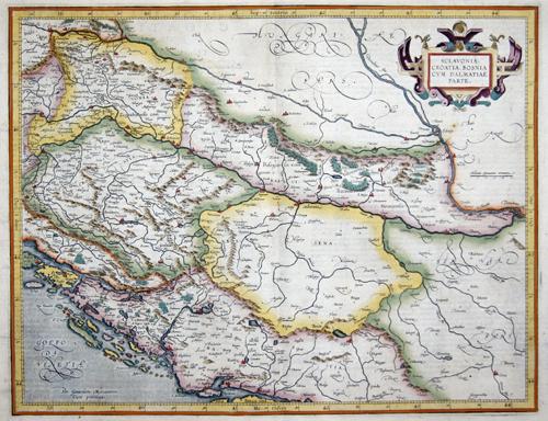 Mercator Gehard Sclavonia, Croatia, Bosnia cum Dalmatiae parte