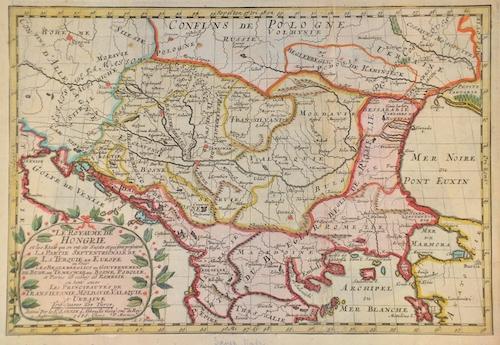 Sanson/ Mortier, Peter Nicolas Le Royaume de Hongrie..