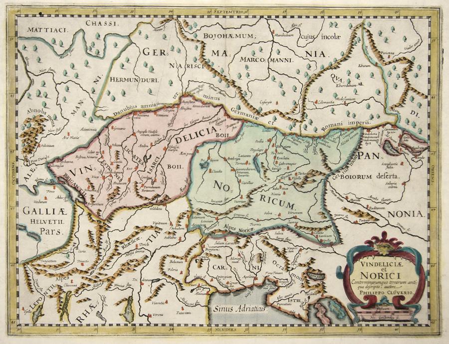 Cluverus (Clüver)  Vindeliciae et Norici