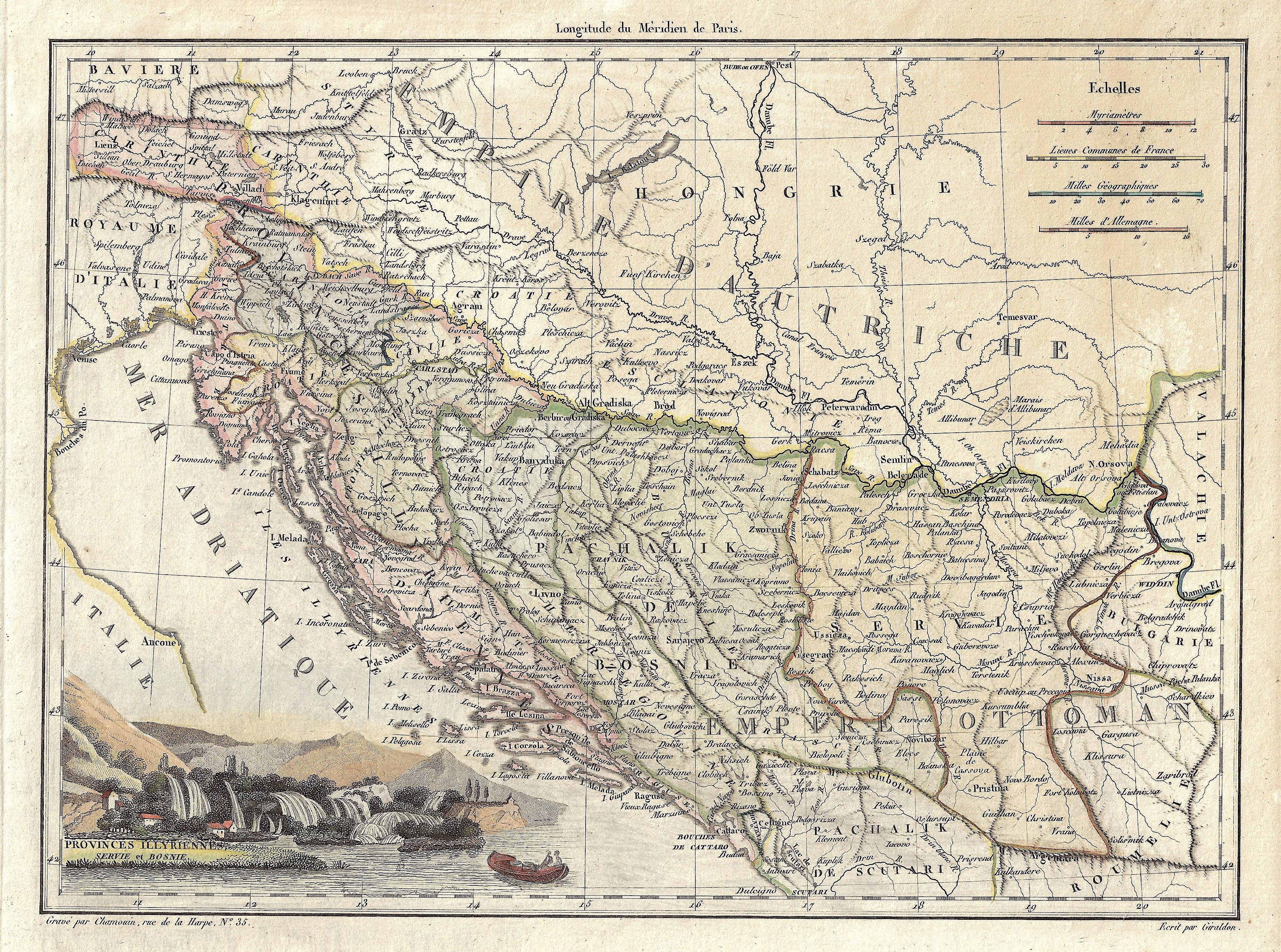 Giraldon  Provinces Illyriennes Servie et Bosnie.