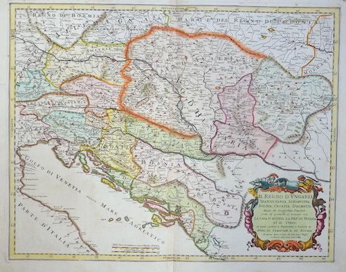 Rossi  Il regno. De Ungaria Transilvania, Schiavonia, Bosnia, Croatia, Dalmatia