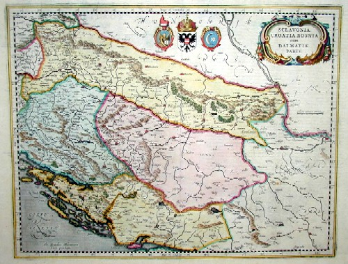 Hondius  Sclavonia ,Craotia, Bosnia cum Dalmatiae Parte