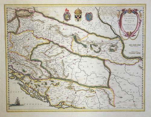 Blaeu Willem Janszoon Sclavonia, Croatia, Bosnia cum Dalmatiae Parte
