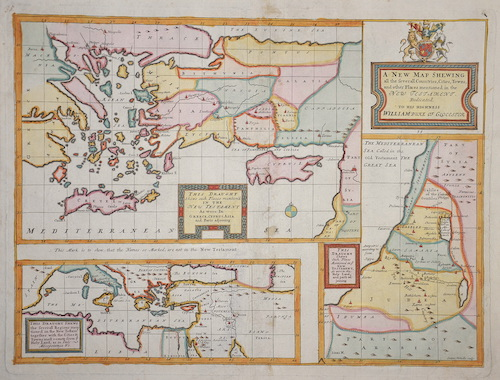 Wells Edward A new map shewing all the several countries, cities, towns, and other places mentioned in the new testament