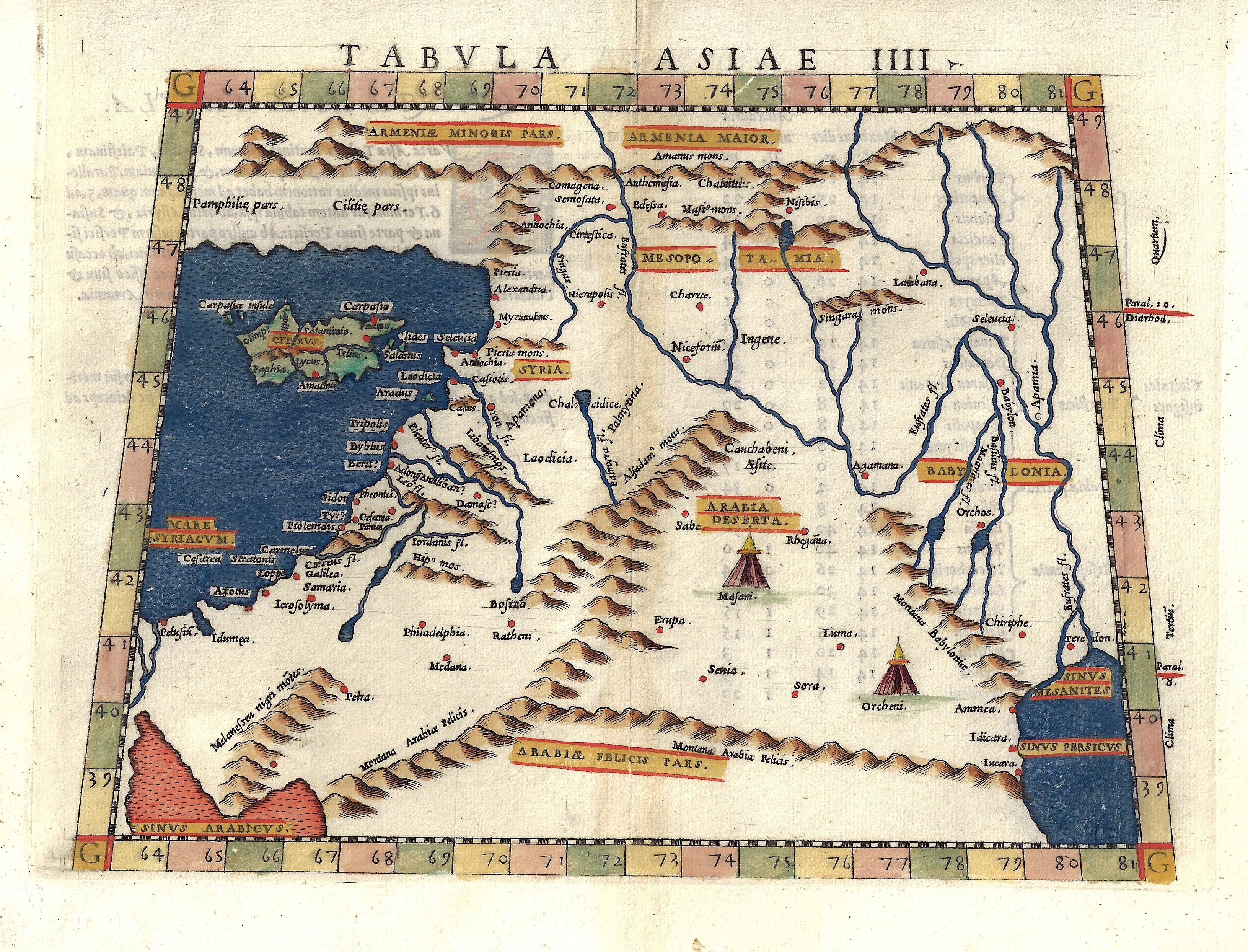 Ruscelli Girolamo Tabula Asiae IIII.