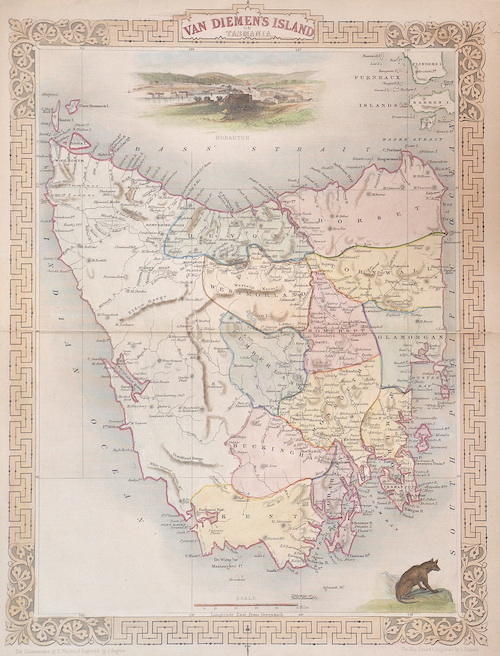 Tallis John Van Diemen´s island or Tasmania