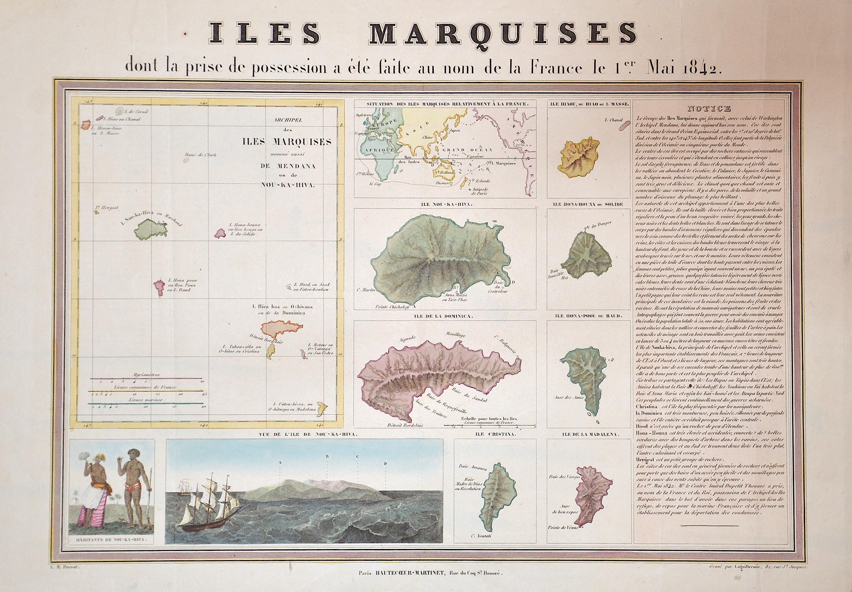 Laguillermie  Iles Marquises dont la prise de possession a été faite au nom de la France le 1er Mai 1842