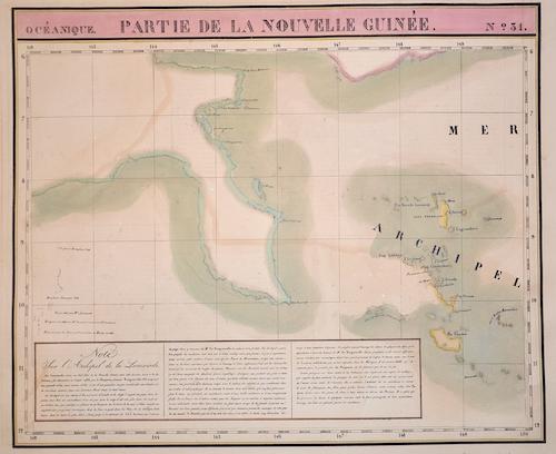 Vandermaelen Philippe Marie Partie de la Nouvelle Guinée