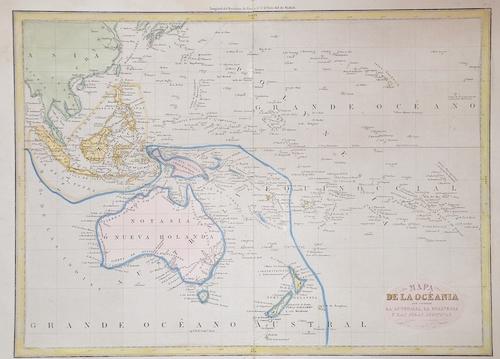 Anonymus  Mapa de la Océania