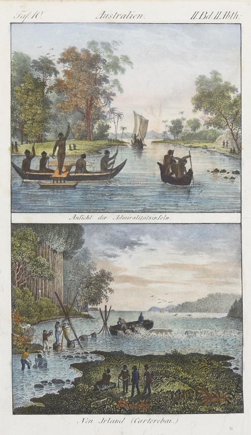 Anonymus  Australien. Ansicht der Admiralitätsinseln / Neu Irland (Carterebai.)