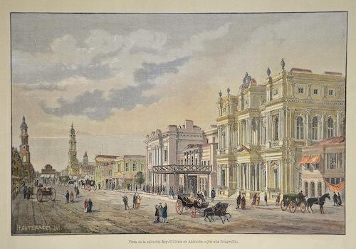 Catenacci  Vista de la calle del Rey-William en Adelaida