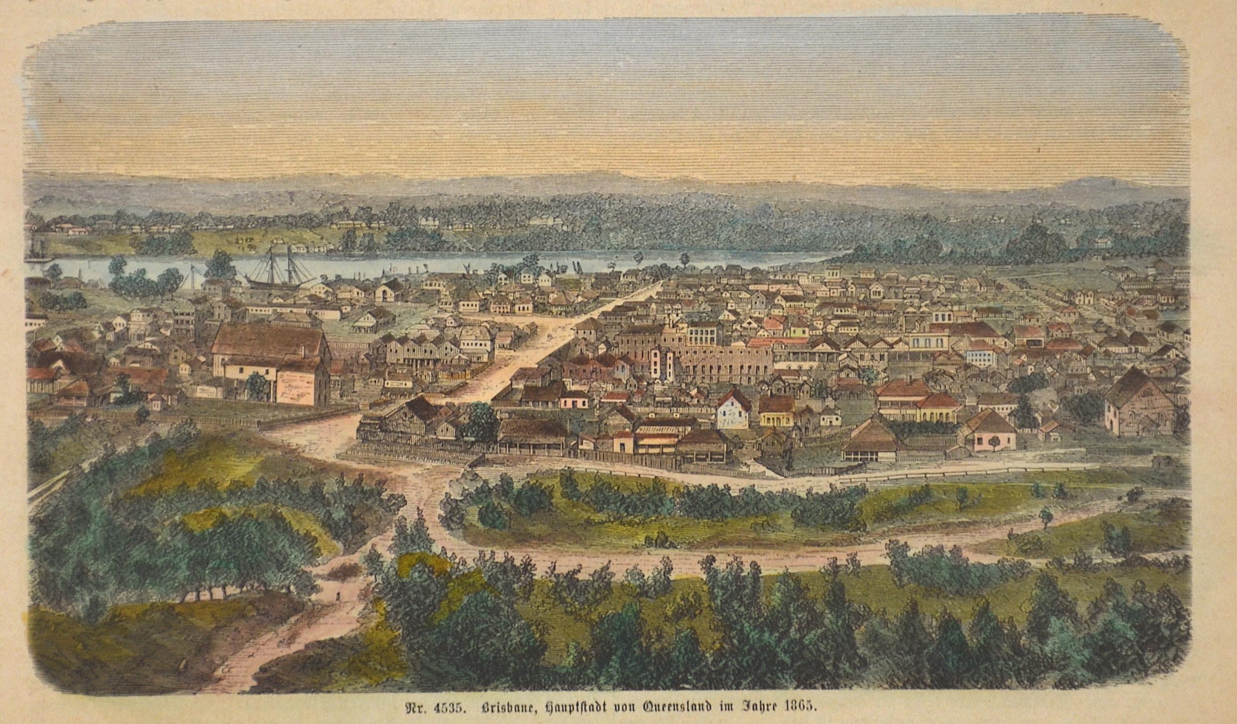 Anonymus  Brisbane, Hauptstadt von Queensland im Jahr 1865