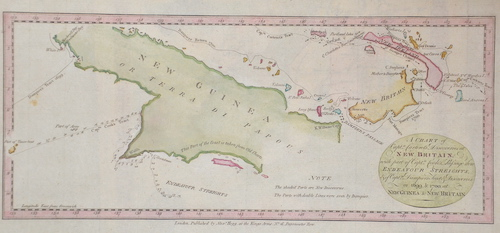Hogg  A chart od Captain Carteres discoveries at new Britain with parat of Captain Cooks passage thro Endeavour Streights..