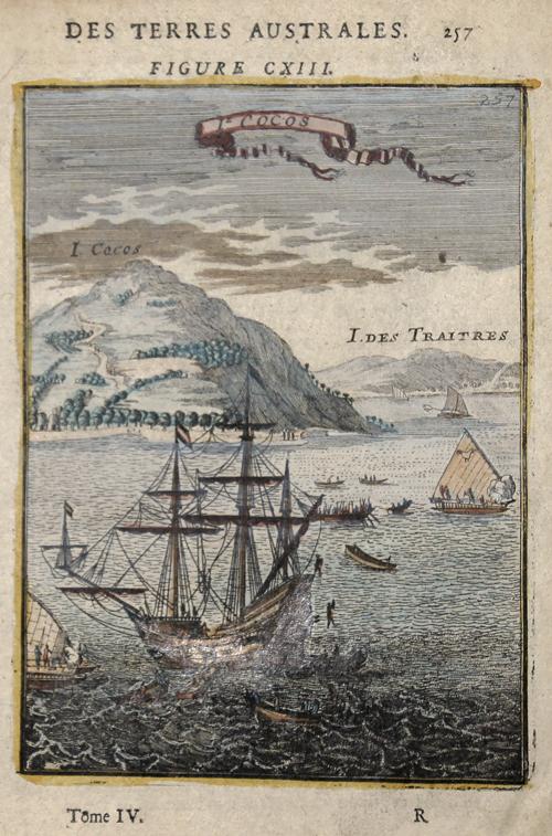 Mallet Alain Manesson Des Terres Australes. Figure CXIII. Ie. Cocos