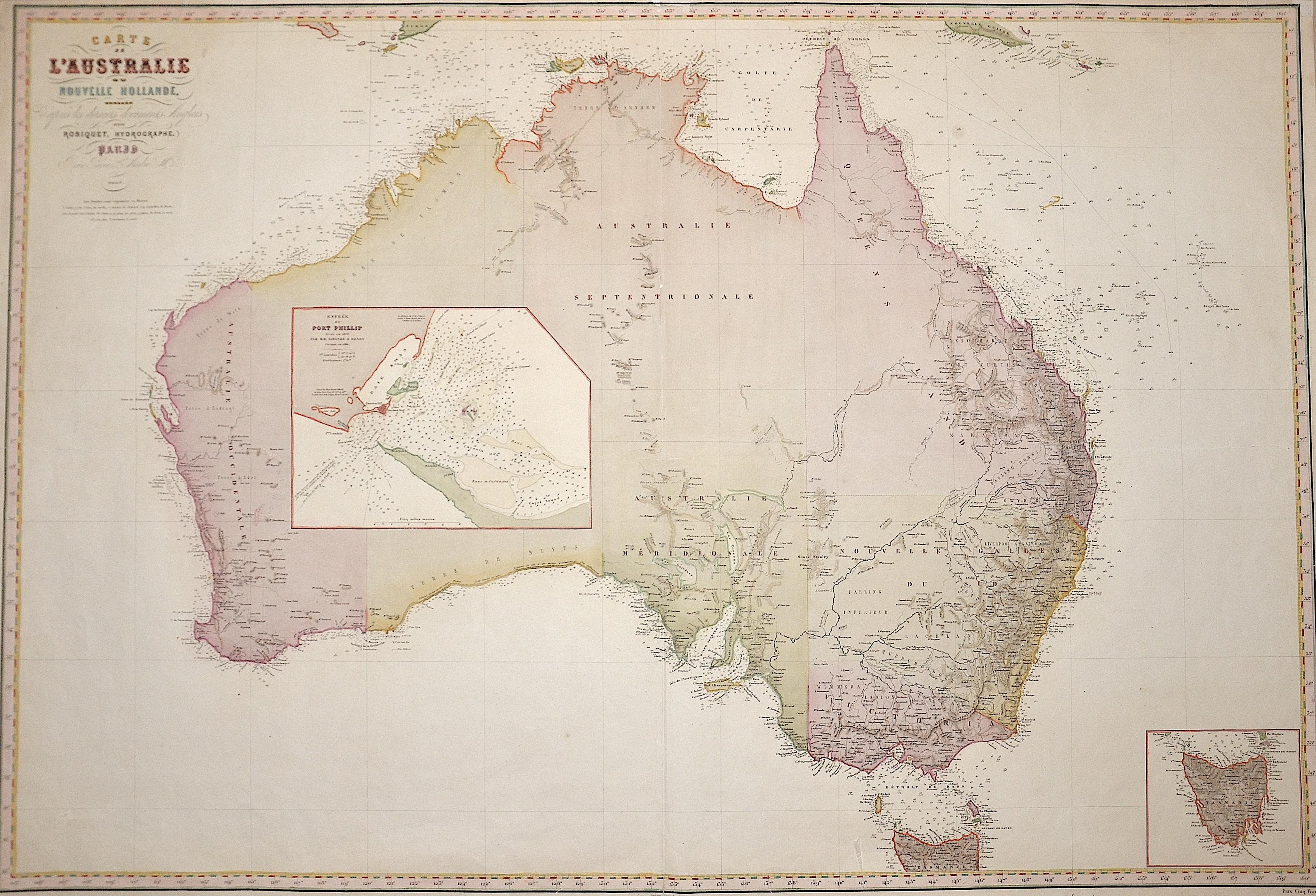 Robiquet  Carte de l'Australie