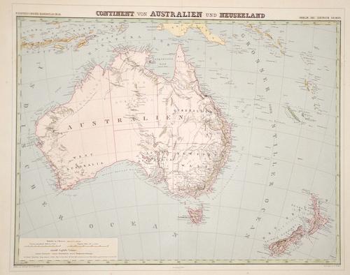 """Herzberg H. Continent von Australien und Neuseeland"""""""