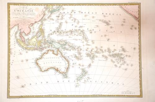 Brué A.H. Carte de l'Océanic ou Cinquieme partie du monde