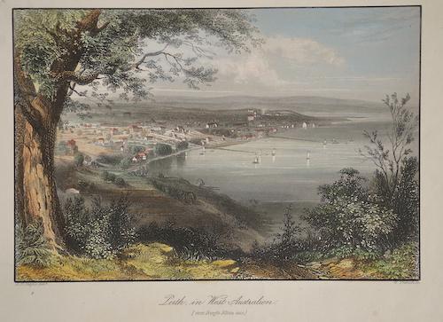 French  Perth, in West- Australien vom Berg Eliza aus