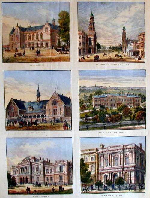 Anonymus  Princpeaux edifices de la ville d Adelaid
