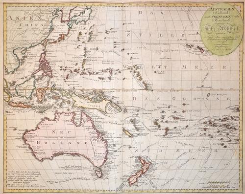 Walch Johann Australien ( Südland) auch Polynesien oder Inselwelt, insgemein der Fünfte Welttheil genannt