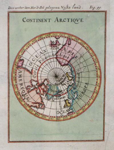 Mallet Alain Manesson Continent Arctique/ Das unter den Nordpol gelegene veste Land