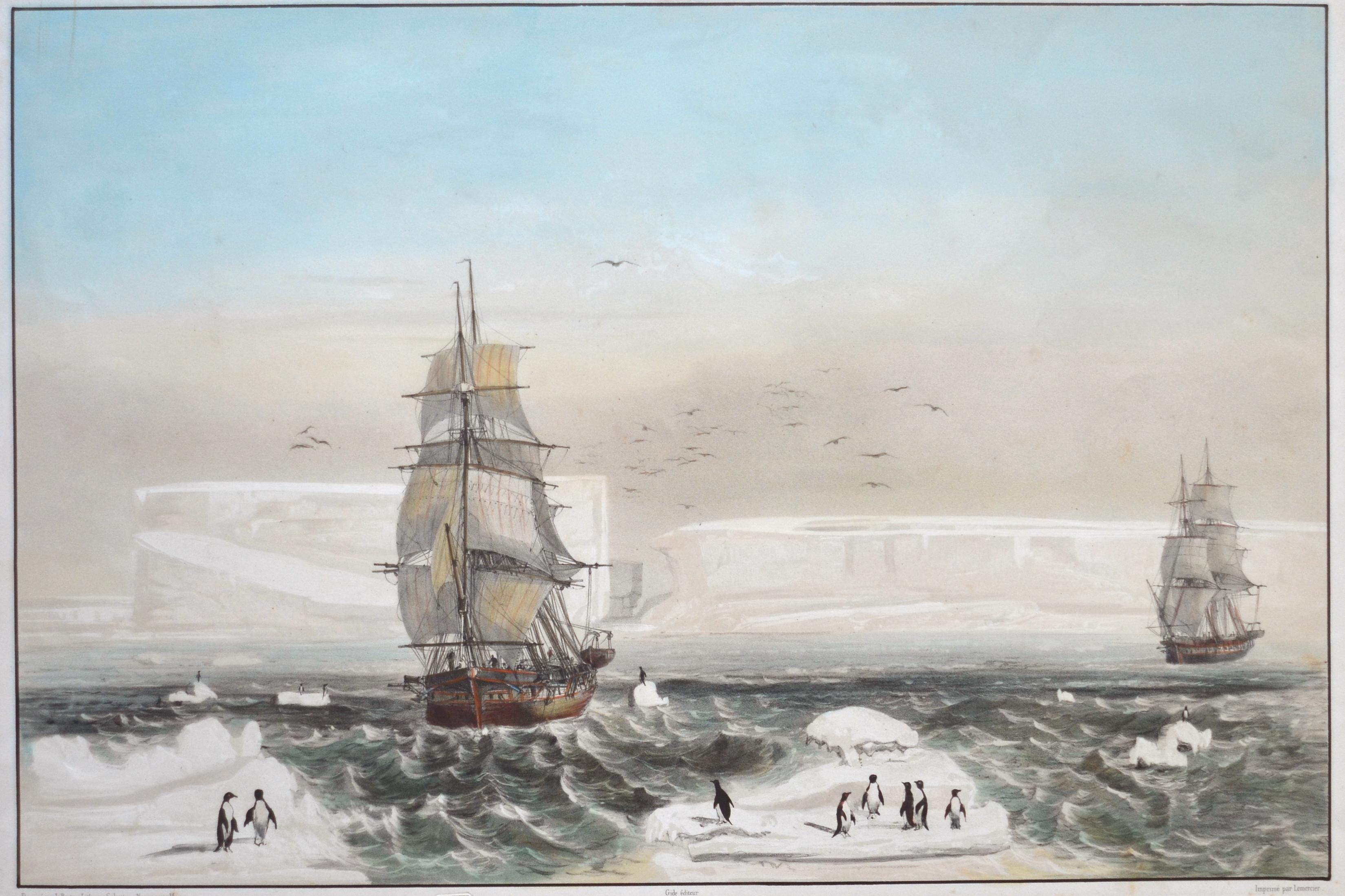 Lemercier Rose Reconnaissance de la Terre Adélie, le 20 Janvier 1840.