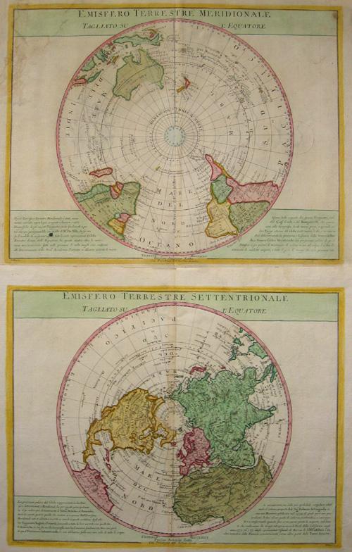 Zatta Antonio Emisfero Terrestre Settentrionale/ Emisfero Terrestre Meridionale