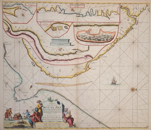Keulen Johannes van Paskaarte van de Mont van de Witte Zeen .Beginnende van Tiepena tot Pelitza