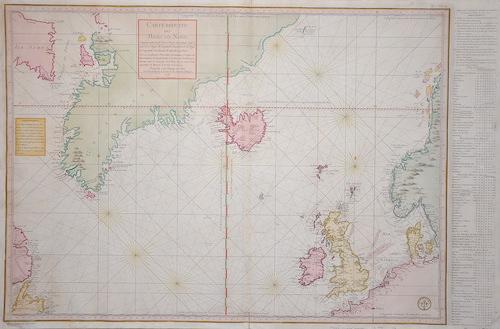 Verdun de la Crenne J.R. Carte reduite des Mers du Nord