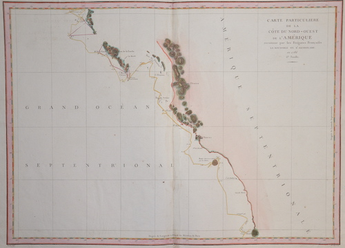 Pérouse, la  Carte particuliere de la cote du Nord- Ouest de l´ Amerique reconnue par le fregatte Francais……