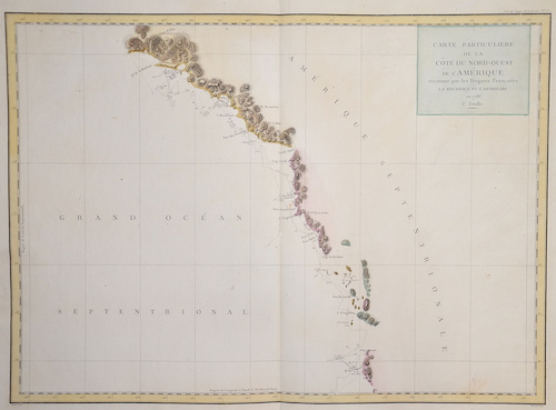 Pérouse, la Jean Francois Carte particuliere de la côte du nord ouest de l´Amérique