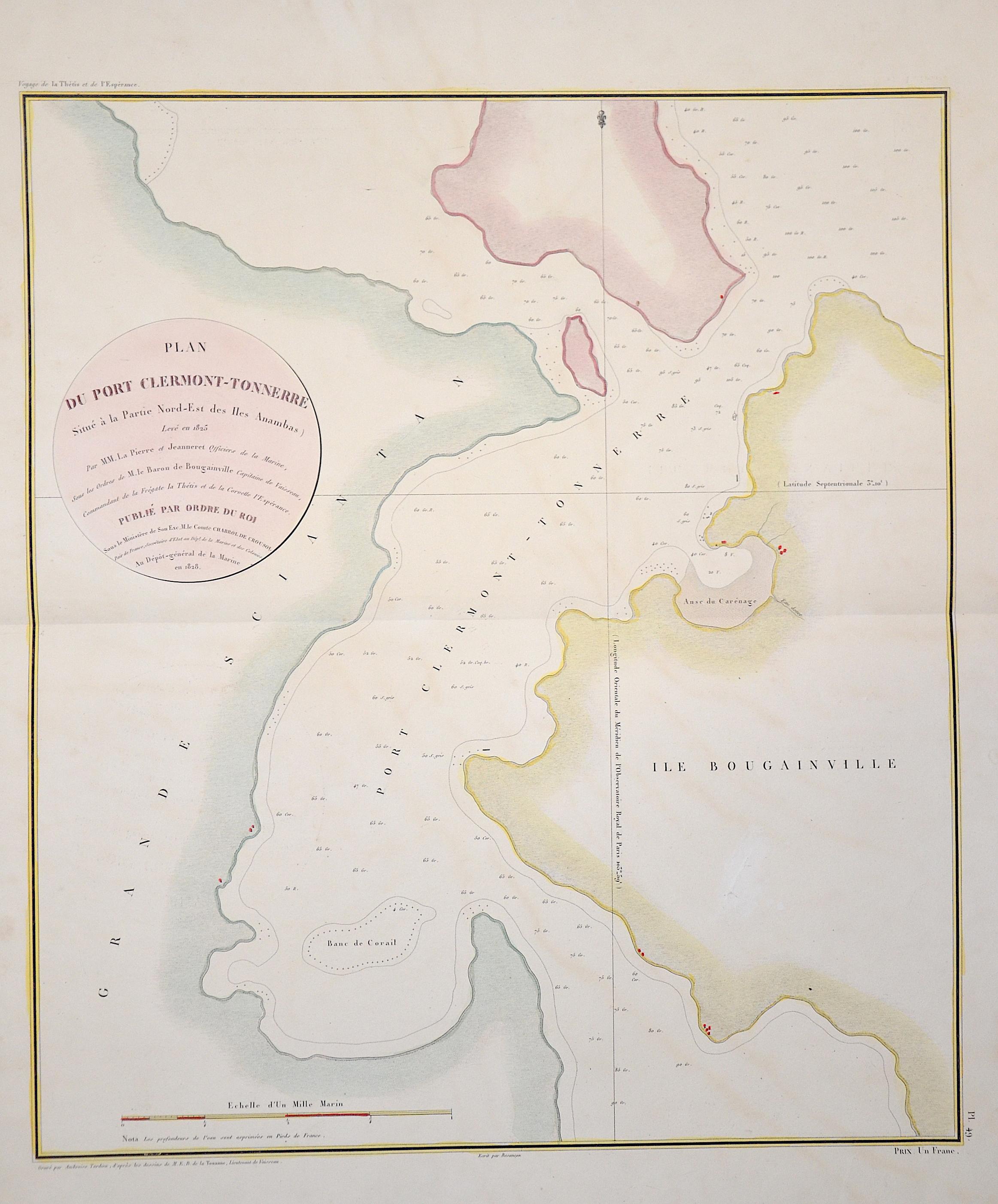 Tardieu  Plan du Port Clermont-Tonnerre