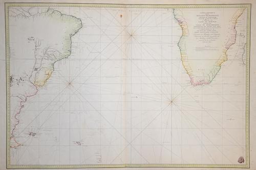 Bauza  Carta Esferica del Oceeano Meridional desde el Eyuador…Cabo de Hornos… Canal de Mozambique…