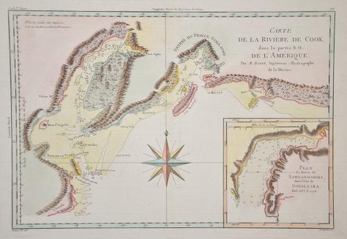 Bonne Rigobert Carte de la Rivière de Cook, dans la partie N.O. de L'Amérique.